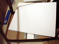White matte board as base