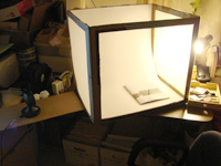 Light tent with one light source