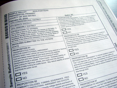 Sample Ballot page design