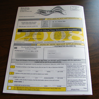 Sample Ballot Back Cover