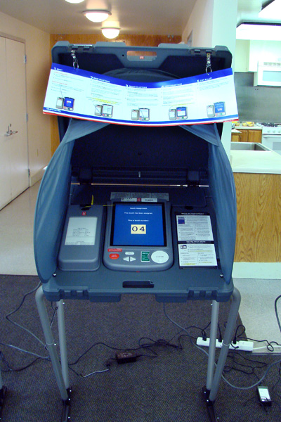 The electronic voting machine