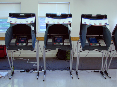 Three voting machines
