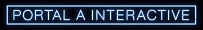 Portal A Neon Text Logo