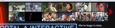 Portal A Video Thumbnails Section