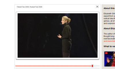 Elizabeth Gilberts Tiny Head at TED