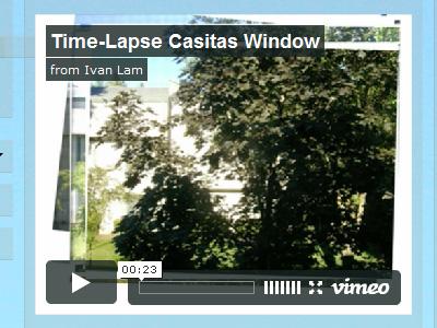 Time-Lapse Casitas Window video